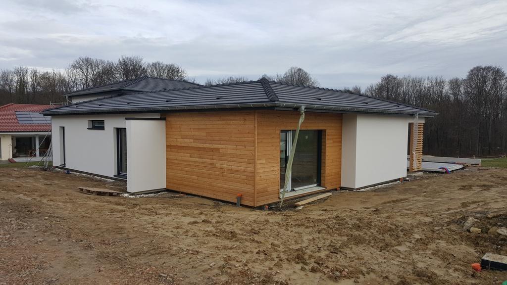 Isolation extérieure maison ossature bois à Ranspach Le Haut
