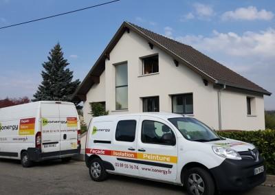 Isolation extérieure maison en rénovation à Landser (68)