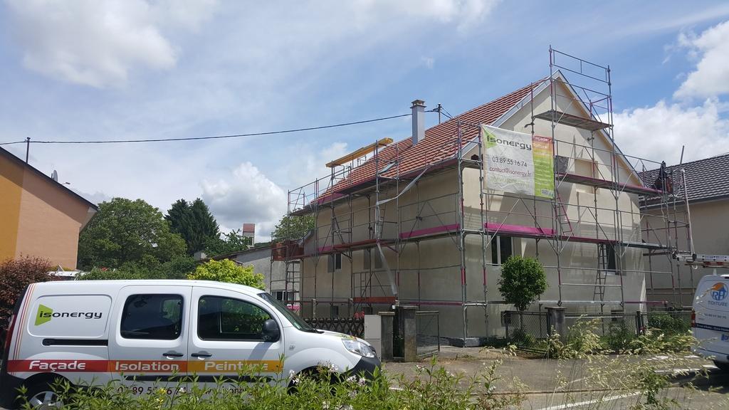Isolation extérieure maison en rénovation à Waldighoffen (68)