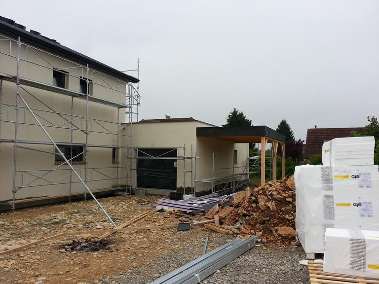 Isolation thermique ext rieure sur maison ossature bois - Isolation exterieure ossature bois ...