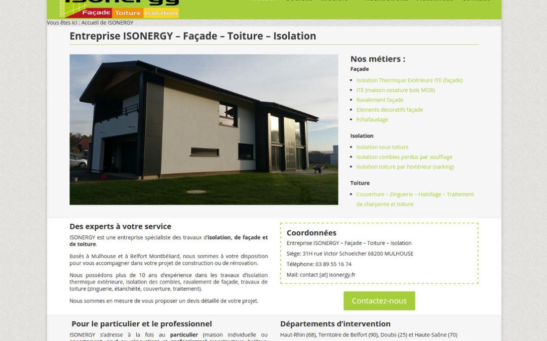 Nouveau site internet isonergy.fr