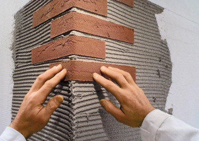 pose briquettes de parement